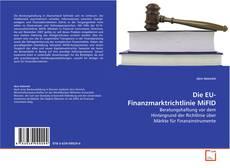 Bookcover of Die EU-Finanzmarktrichtlinie MiFID