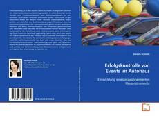 Capa do livro de Erfolgskontrolle von Events im Autohaus