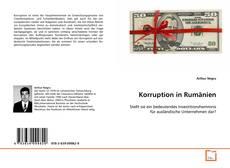 Portada del libro de Korruption in Rumänien