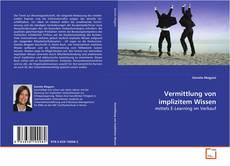 Buchcover von Vermittlung von implizitem Wissen
