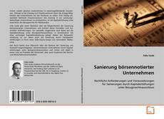 Capa do livro de Sanierung börsennotierter Unternehmen