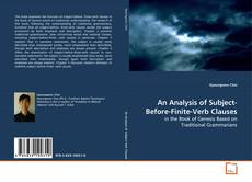 Bookcover of An Analysis of Subject-Before-Finite-Verb Clauses