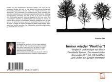 "Capa do livro de Immer wieder ""Werther""!"