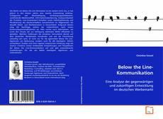 Buchcover von Below the Line-Kommunikation