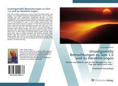 Buchcover von Unzeitgemäße Betrachtungen zu Gen 1,5 und zu Heraklits Logos