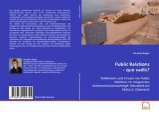 Buchcover von Public Relations - quo vadis?