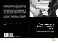 Capa do livro de Ödön von Horváths Übergang von Drama zu Prosa