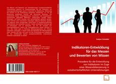 Buchcover von Indikatoren-Entwicklung für das Messen und Bewerten von Wissen