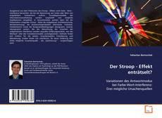 Der Stroop - Effekt enträtselt? kitap kapağı