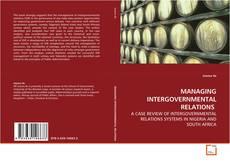 Couverture de MANAGING INTERGOVERNMENTAL RELATIONS
