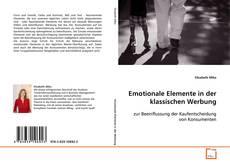 Capa do livro de Emotionale Elemente in der klassischen Werbung