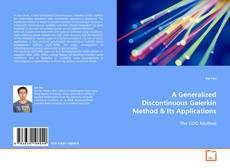 Bookcover of A Generalized Discontinuous Galerkin Method
