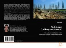 "W.G.Sebald: ""Luftkrieg und Literatur"" kitap kapağı"