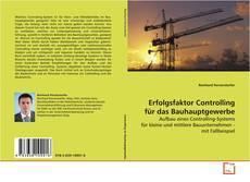 Bookcover of Erfolgsfaktor Controlling für das Bauhauptgewerbe