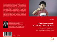 Buchcover von Factor Endowments in a South- South Relation