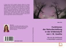 Buchcover von Funktionen der Naturdarstellung in der Erlebnislyrik von J. W. Goethe