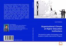 Couverture de Organizational Climate at Higher Education Institutions