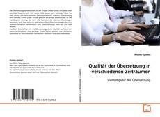 Buchcover von Qualität der Übersetzung in verschiedenen Zeiträumen