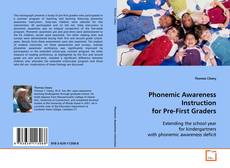 Bookcover of Phonemic Awareness Instruction for Pre-First Graders