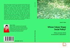 Portada del libro de Whose Values Shape Social Policy?