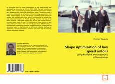 Capa do livro de Shape optimization of low speed airfoils