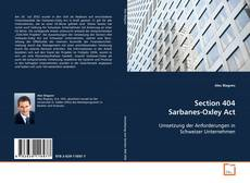 Bookcover of Section 404 Sarbanes-Oxley Act