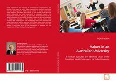 Bookcover of Values in an Australian University