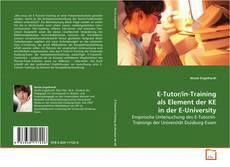 Capa do livro de E-Tutor/in-Training als Element der KE in der E-University