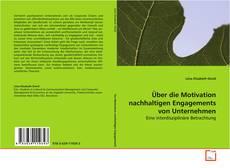 Обложка Über die Motivation nachhaltigen Engagements von Unternehmen