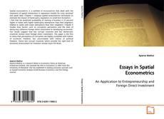 Bookcover of Essays in Spatial Econometrics