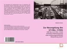 Bookcover of Zur Neuregelung des § 9 Abs. 2 EStG