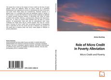 Bookcover of Role of Micro Credit in Poverty Alleviation