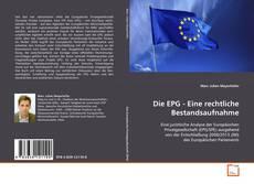 Bookcover of Die EPG - Eine rechtliche Bestandsaufnahme