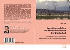 Capa do livro de Investitionsverhalten von Stromunternehmen bei Unsicherheit