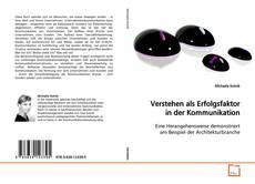 Buchcover von Verstehen als Erfolgsfaktor in der Kommunikation