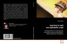 Bookcover of Learning to read non-alphabetic script