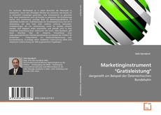"Buchcover von Marketinginstrument ""Gratisleistung"""