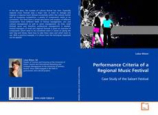 Bookcover of Performance Criteria of a Regional Music Festival