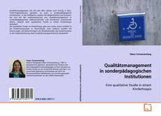 Qualitätsmanagement in sonderpädagogischen Institutionen的封面