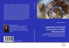 Leadership and Good Governance in Public Administration的封面