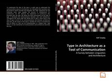 Type in Architecture as a Tool of Communication kitap kapağı