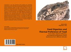 Bookcover of Food Digestion And Thermal Preference of Toad