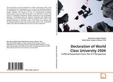 Bookcover of Declaration of World Class University 2006