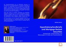 Bookcover of Hypothekenpfandbriefe und Mortgage Backed Securities