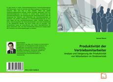 Portada del libro de Produktivität der Vertriebsmitarbeiter