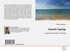 Bookcover of Semantic Typology