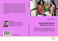Bookcover of International Women Students in the U.S.