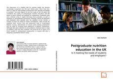 Copertina di Postgraduate nutrition education in the UK