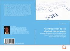 Capa do livro de An introduction to the algebraic Bethe ansatz