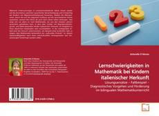 Обложка Lernschwierigkeiten in Mathematik bei Kindern italienischer Herkunft